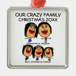 Custom Family Cartoon Christmas Ornament