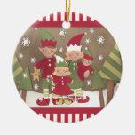 Custom Family Christmas Gift Double-Sided Ceramic Round Christmas Ornament