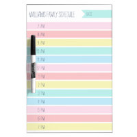 Custom Family Daily Planner or Homeschool Schedule Dry Erase Board