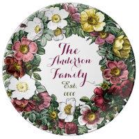 Custom family established decorative plate