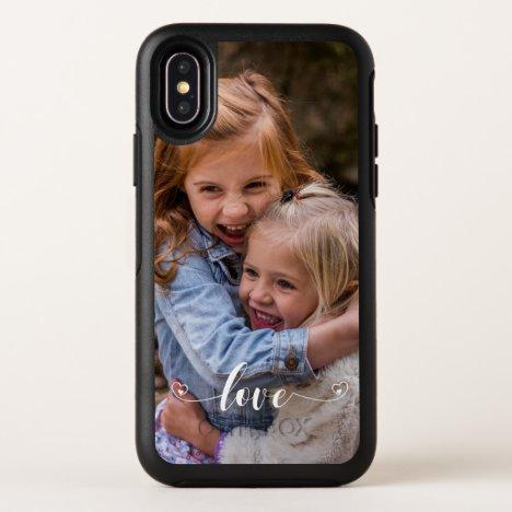 Custom Family Love Handwritten Photo Personalized OtterBox Symmetry iPhone XS Case