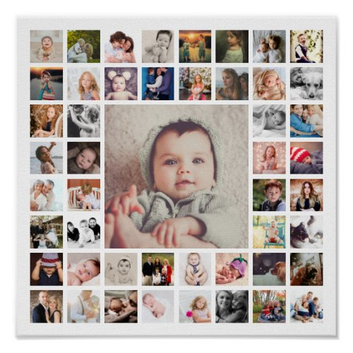 Custom Family Memories Photo Collage Personalized Poster