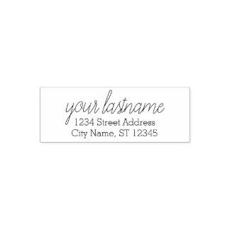 Custom Family Name and Return Address - Alexandrea Self-inking Stamp