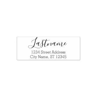 Custom Family Name and Return Address - Elegant Self-inking Stamp