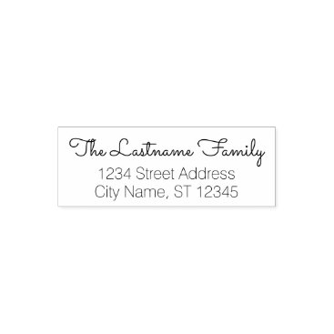 BusinessStationery Custom Family Name and Return Address - Sacramento Self-inking Stamp