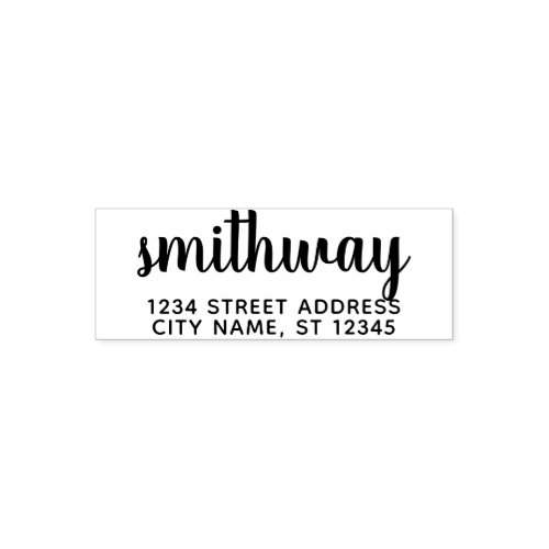 Custom Family Name and Return Address sugar plums Self_inking Stamp