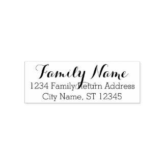 Custom Family Name and Return Address - Whimsy 2 Self-inking Stamp