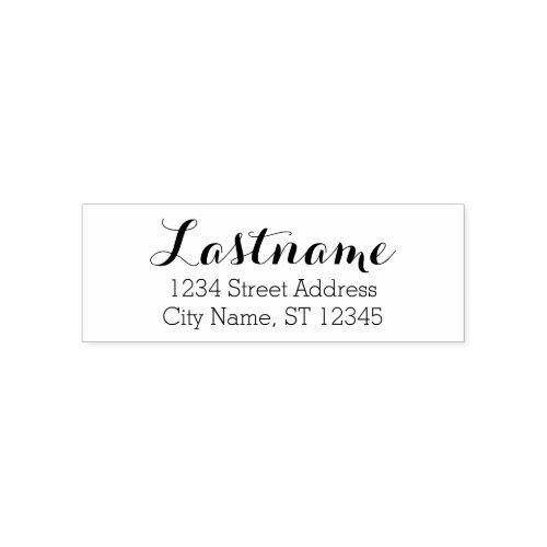 Custom Family Name and Return Address _ Whimsy Self_inking Stamp