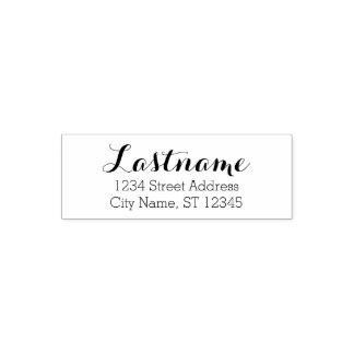 Custom Family Name and Return Address - Whimsy Self-inking Stamp