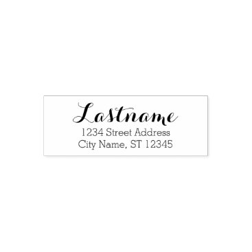 BusinessStationery Custom Family Name and Return Address - Whimsy Self-inking Stamp