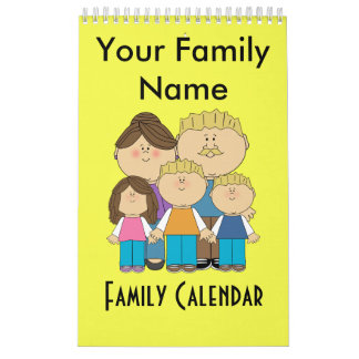 Custom Family Name Calendar