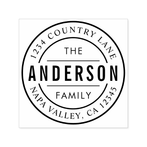 Custom Family Name  Create Your Own Return Addres Self_inking Stamp
