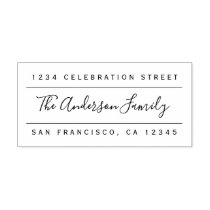 Custom Family Name | Modern Return Address Rubber Stamp