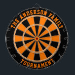 """Custom Family Name Personalized Dartboard<br><div class=""""desc"""">Add a family name, and easily create your personalized family name dartboard. Click CUSTOMIZE to change the text color or board colors. You can TRANSFER this DESIGN on other Zazzle products and adjust it to fit most of the Zazzle items. Standard Studio designs are made in high-resolution vector graphics for...</div>"""