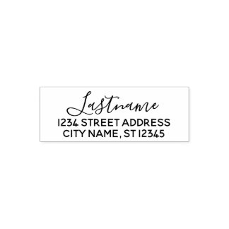 Custom Family Name Return Address - Blooming both Self-inking Stamp