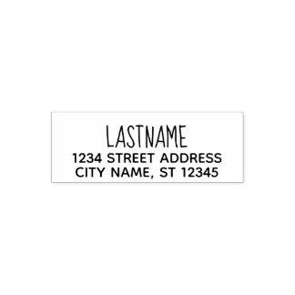 Custom Family Name Return Address - Blooming Sans Self-inking Stamp