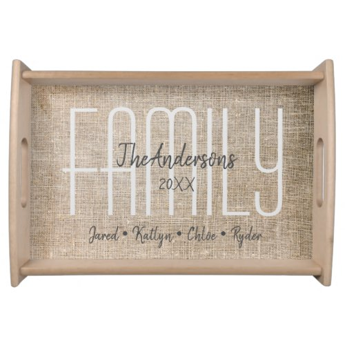 Custom Family Name Serving Tray