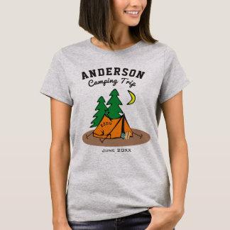 Custom Family Name Summer Vacation Camping Trip T-Shirt