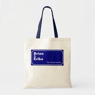 custom family-names personalized tote bag