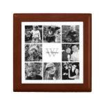 Custom Family Photo Collage Jewelry Box