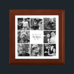 "Custom Family Photo Collage Jewelry Box<br><div class=""desc"">Elegant and modern photo collage.</div>"