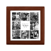 Custom Family Photo Collage Jewelry Box