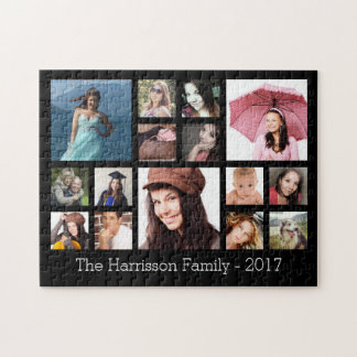 Custom Family Photo Collage Jigsaw Puzzle