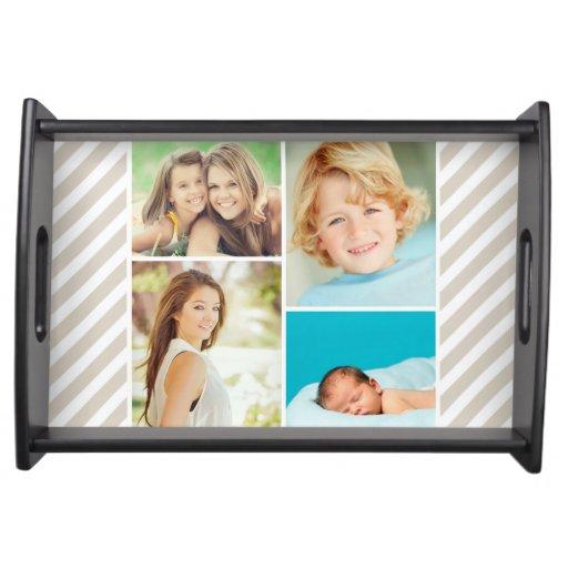 Custom Family Photo Collage Serving Platter