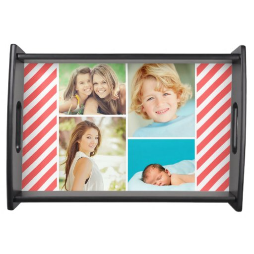 Custom Family Photo Collage Serving Tray