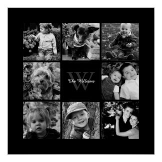 Custom Family Photo Collage Posters