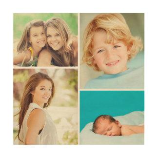 Custom Family Photo Collage Print on Wood