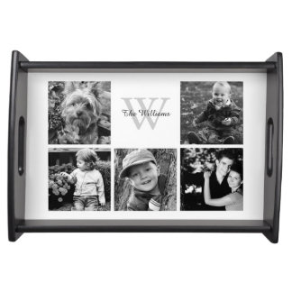 Custom Family Photo Collage Serving Trays