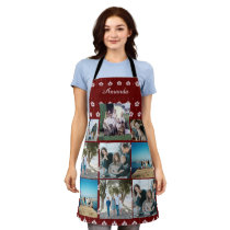 Custom Family Photo Collage with name Apron
