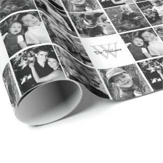 Custom Family Photo Collage Wrapping Paper