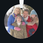 "Custom Family Photo Holiday Ornament<br><div class=""desc"">Beautiful custom designed Christmas photo ornament you can personalize. Add your family photo to create the perfect keepsake or unique gift for your family and grandparents. Click &quot;Customize It&quot; to add text or additional photos. Create your own unique one of a kind holiday ornament design.</div>"