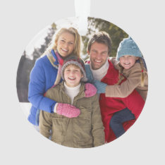 Custom Family Photo Holiday Ornament at Zazzle