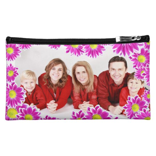 Custom Family Photo Medium Cosmetic Bag