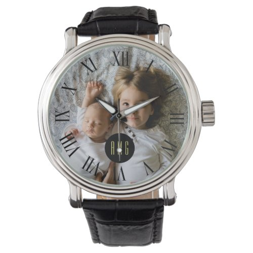 Custom Family Photo | Monogram | Roman Numeral Wristwatch
