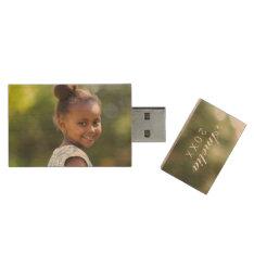 Custom Family Photo Monogram USB Flash Drive at Zazzle