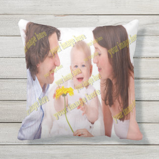 Custom Family Photo Patio Deck Create Your Own Outdoor Pillow