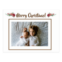 Custom Family Photo Personalized Christmas Greetin Postcard