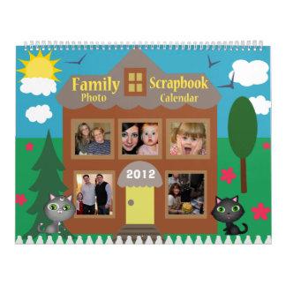 Custom Family Photo Scrapbook Calendar