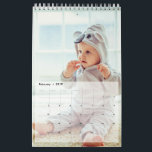 "Custom Family Photo Single Page Layout Calendar<br><div class=""desc"">Custom Family Photo Single Page Layout Calendar. Customize the photo calendar by uploading your favorite family pics. The calendar has a single page layout design with 1 photo in each page .The front cover page has space for 3 photos . In total 16 photos can be uploaded , 1 for...</div>"