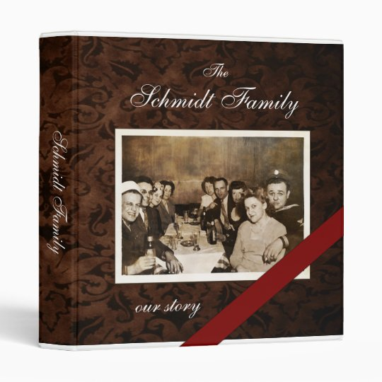 "Custom Family Photo Template (unframed) 1"" Binder"