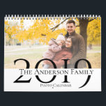 "Custom Family Photos Year 2019 Calendar<br><div class=""desc"">Custom Family Photos Year 2019 Calendar . Customize the photo calendar by uploading your favorite family pics. Each page has space for 1 photo which is placed in two different places. In total 14 photos can be uploaded , 1 for each page ( 12 months ) and 1 photo for...</div>"