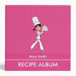 Custom Family Recipe Album With Kitchen Graphics 3 Ring Binder