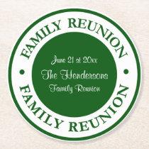 Custom Family Reunion Coasters