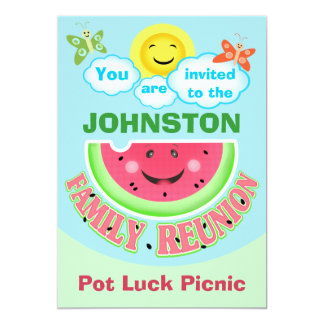 Custom Family Reunion / Summer B-B-Q Invitations