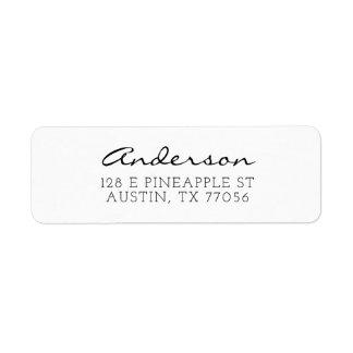 Custom Family Script Typgraphy Name Return Address Label