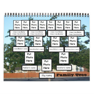 Custom Family Tree 2011 Calendar